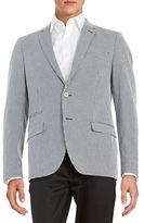 Black Brown 1826 Gingham Seersucker Jacket