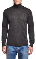 Isaia Turtleneck Long-Sleeve Sweater, Gray