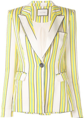 Alexis Edana striped satin blazer