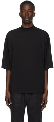 Jil Sander Black Mock Neck T-Shirt