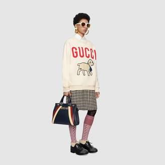 Gucci Zumi diagonal stripe medium top handle bag