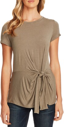 Vince Camuto Serene Stripe Side Tie Top