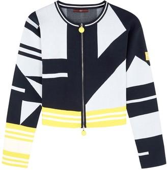 High Confident Geometric Stretch-knit Jacket