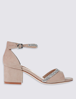 M&S Collection Block Heel Sparkle Sandals with Insolia®