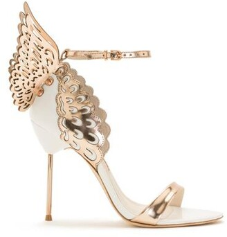 Sophia Webster Evangeline White Rose Gold Butterfly Sandal