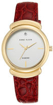 Anne Klein Goldtone Stainless Steel Leather Strap Analog Watch