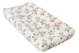 Little Unicorn Watercolor Roses Cotton Muslin Changing Pad Cover