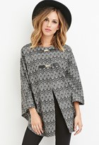 Forever 21 Geo-Patterned Poncho