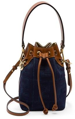 Fendi Mini Mon Tresor Denim Bucket Bag