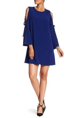Rachel Roy Cold Shoulder Tie Sleeve Dress