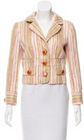 Dolce & Gabbana Metallic Striped Blazer