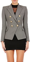 Balmain Women's Wool Double-Breasted Blazer-GREY