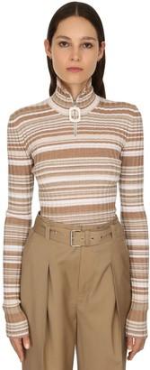 J.W.Anderson Zip-up Wool Rib Knit Sweater