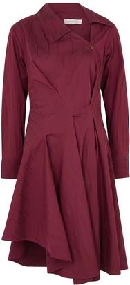 Palmer Harding Enata Burgundy Stretch-cotton Shirt Dress