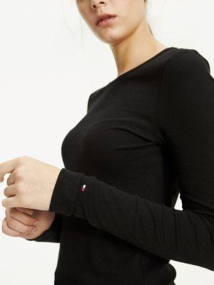 Tommy Hilfiger Essential Rib-Knit Long Sleeve T-Shirt