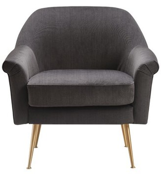 Elle Decor Ophelia Armchair Upholstery Color: Charcoal Gray