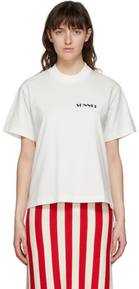 Sunnei White Mini Logo T-Shirt