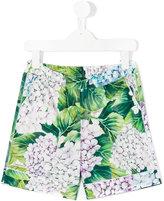 Dolce & Gabbana hydrangea print shorts - kids - Cotton - 4 yrs