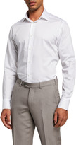 Ermenegildo Zegna Men's Cento Fili Cotton Dress Shirt