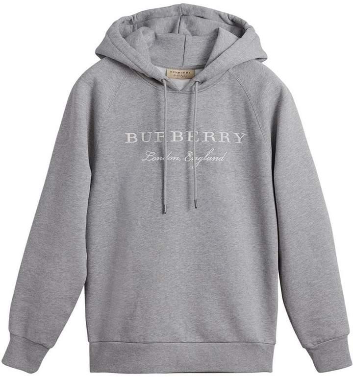 Burberry (バーバリー) - Burberry エンブロイダリーロゴ パーカー