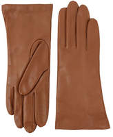 Lord & Taylor Three-Button Leather Gloves