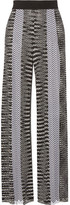 Missoni Crochet-knit Wide-leg Pants - Black