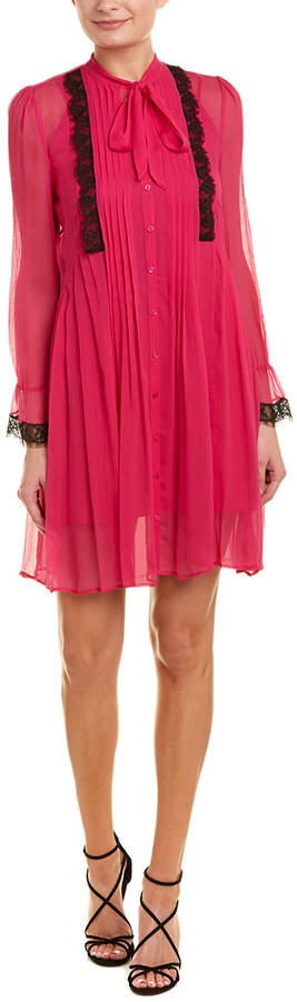 The Kooples Pleated Silk Shirtdress