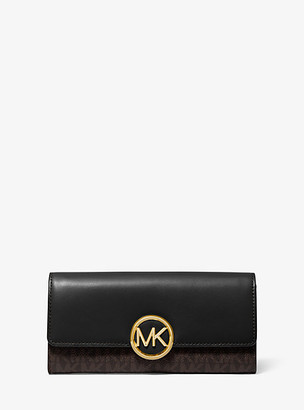 Michael Kors Lillie Large Logo and Leather Wallet