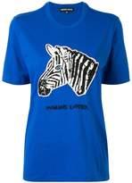 Markus Lupfer sequin zebra T-shirt