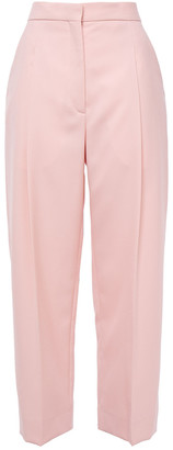 Sandro Aude Cropped Pique Straight-leg Pants