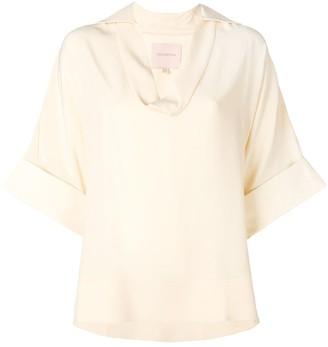 Roksanda Oversized Short-Sleeve Blouse