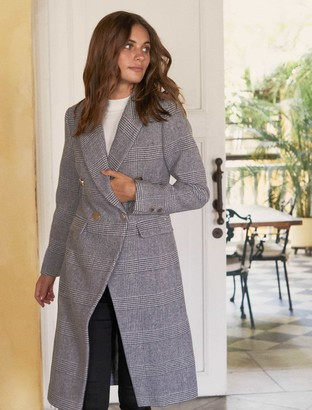 Ever New Katie Double-Breasted Check Coat