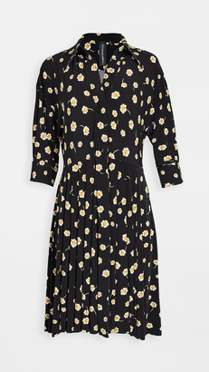 Norma Kamali Puff Sleeve Flared Shirt Dress