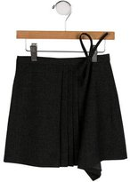 Bonpoint Girls' Pleated Wrap Skirt