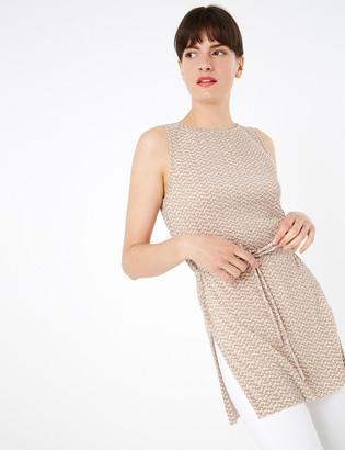 Marks and Spencer Plisse Longline Sleeveless Tunic