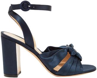 Gianvito Rossi Loren 85 Knotted Satin Sandals