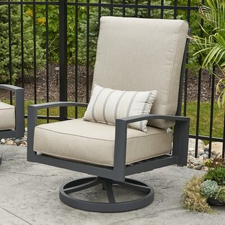 BEIGE The Outdoor GreatRoom Company Lyndale High Back Patio Chair with Cushions The Outdoor GreatRoom Company Color