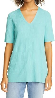 Eileen Fisher V-Neck Silk Knit Tunic
