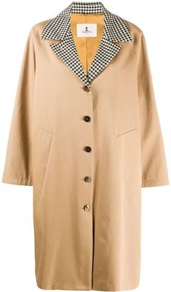 Barena Oversized Hounds Tooth Print Coat