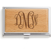 Personalized Planet Card Holders - Script Monogram Business Card Case