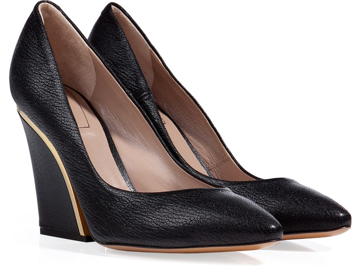 Chloé Leather Pumps in Black