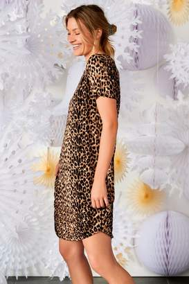 Next Womens Animal Print Night Dress - Brown