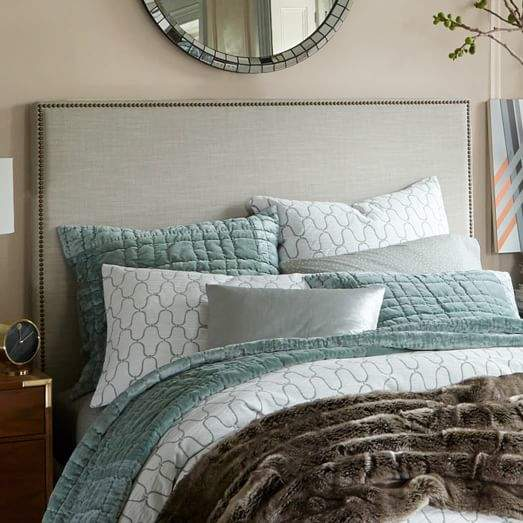 Nailhead Upholstered Headboard - Tall