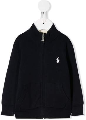 Ralph Lauren Kids logo zip-up cardigan