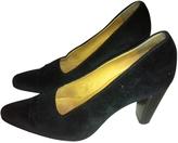 Hermes Black Velvet Heels