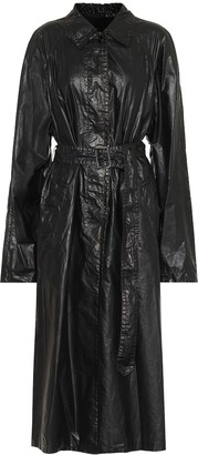 Dries Van Noten Belted cotton-blend coat