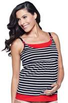 You! Lingerie Sydney Small Maternity and Nursing Tank in Black/White