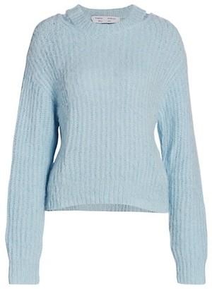 Proenza Schouler White Label Brushed Alpaca-Blend Sweater