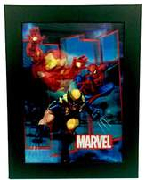 """Marvel Licensed Iron Man Wolverine and Spiderman 10"""" x 13"""" Framed 3D Picture"""