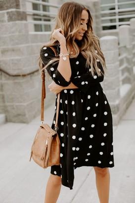 Swiss Dot Midi Dress